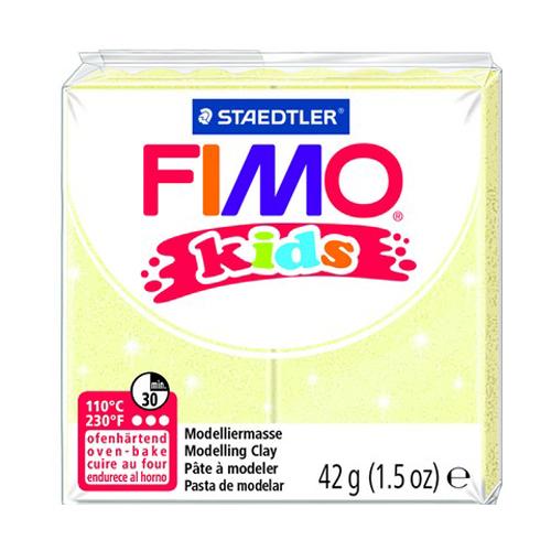 Полимерная глина FIMO kids 42 г перламутровый светло-желтый (8030-106