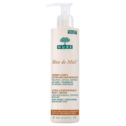 Крем для тела Nuxe восстанавливающий комфорт Reve de Miel Ultra comfortable body cream, 200 мл nuxe body гоммаж для тела нежный 200 мл