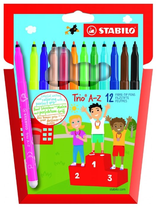 STABILO Набор фломастеров Trio A - Z, 12 шт. (378/1-12-01)