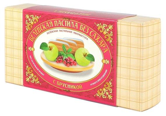 Пастила Белевская пастильная мануфактура Белёвская без сахара с брусникой 180 г