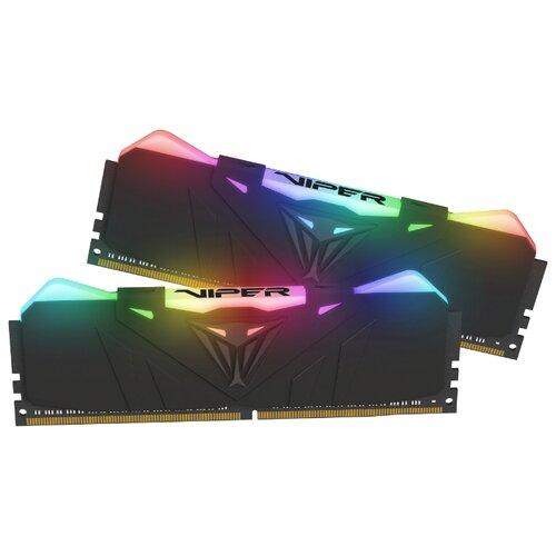 Оперативная память Patriot Memory VIPER RGB DDR4 2666 (PC 21300) DIMM 288 pin, 8 ГБ 2 шт. 1.2 В, CL 15, PVR416G266C5K