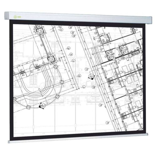 Рулонный матовый белый экран cactus Wallscreen CS-PSW-124x221