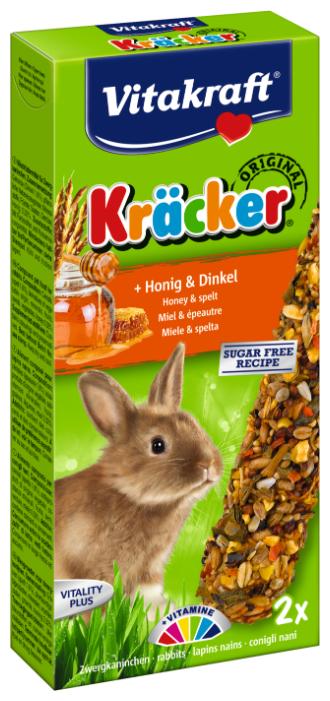 Лакомство для кроликов Vitakraft Крекеры Original мед и спельта