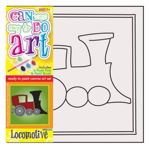 Купить Royal & Langnickel Картина по номерам Паровоз 13х13 см (DCDA-236), Картины по номерам и контурам