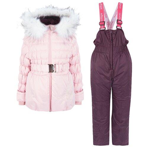 Комплект с полукомбинезоном BOOM! 80521_BOG размер 104-56-51, розовыйКомплекты верхней одежды<br>