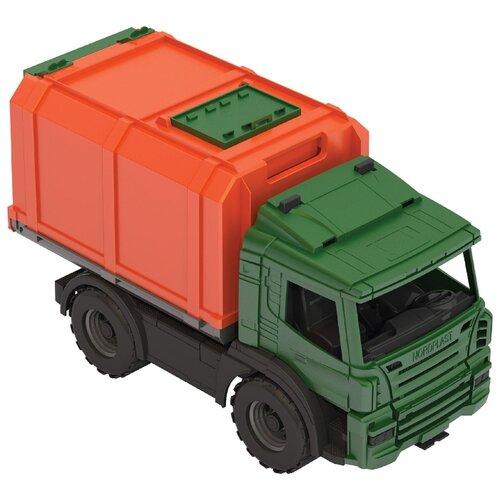 Купить Фургон Нордпласт Спецтехника (204) 42 см зеленый/оранжевый, Машинки и техника