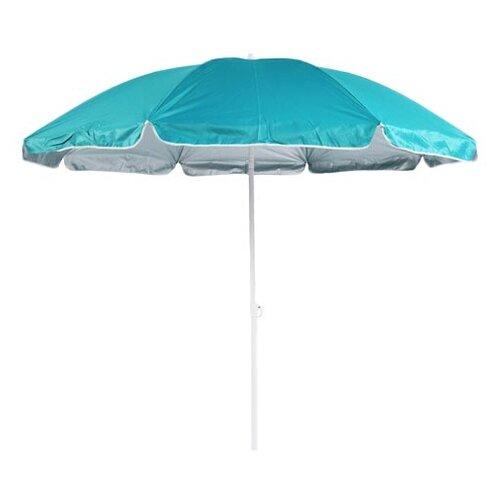 Зонт Green Glade 0012 купол 200 см, высота 205 см голубой/серебряный недорого