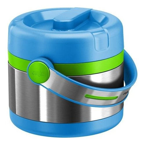 Термос для еды EMSA Mobility Kids, 0.65 л серый/голубой/зеленый