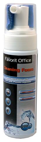Набор Favorit Office Cleaning foam чистящая пена+сухая салфетка для экрана