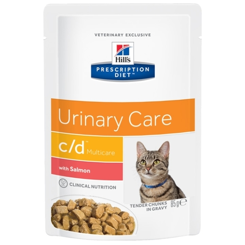 Корм для кошек Hill's (0.085 кг) 1 шт. Prescription Diet C/D Feline Urinary Stress with Salmon wet