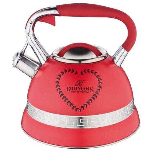 Фото - Bohmann Чайник BH-9911 3 л красный endever чайник aquarelle 301 302 303 3 л красный