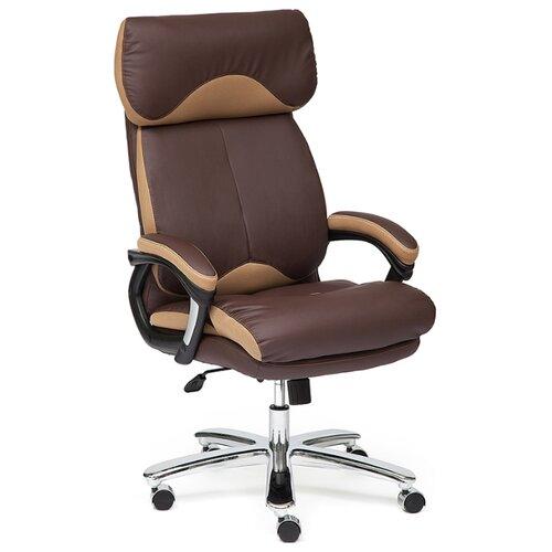 Компьютерное кресло TetChair Grand, обивка: натуральная кожа, цвет: коричневый/бронза компьютерное кресло tetchair барон обивка искусственная кожа цвет бежевый