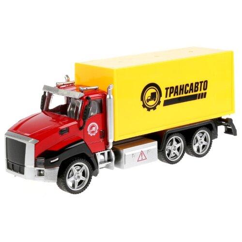 Купить Грузовик ТЕХНОПАРК 2213-3R1 21 см красный/желтый, Машинки и техника
