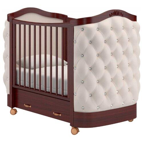 Купить Кроватка Гандылян Тиффани декор стразы (колесо) (качалка) махагон, Кроватки