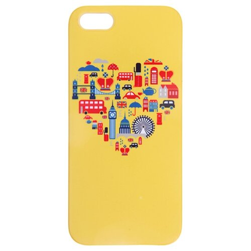 Чехол Mitya Veselkov IP5.МITYA-034 для Apple iPhone 5/iPhone 5S/iPhone SE Лондон на желтомЧехлы<br>