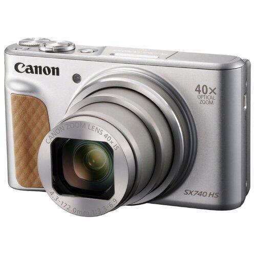 Фото - Фотоаппарат Canon PowerShot SX740 HS серебристый/коричневый фотоаппарат canon powershot sx70 hs черный