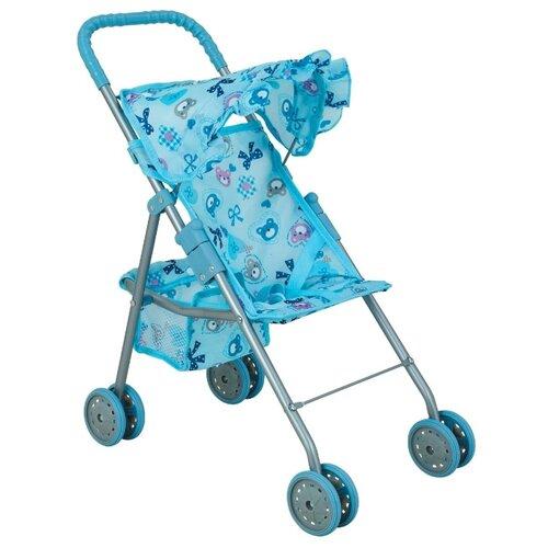 Купить Прогулочная коляска Buggy Boom Mixy (8006) голубой/бантик, Коляски для кукол
