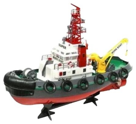 Корабль Heng Long Seaport Work Boat (3810) 1:20 60 см красный/черный/белый фото 1