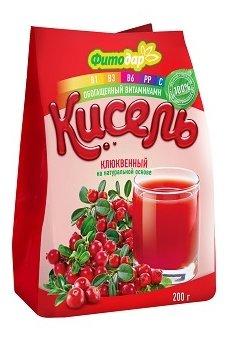 Кисель Фитодар Кисель клюквенный на натуральной основе витаминизированный 200 г