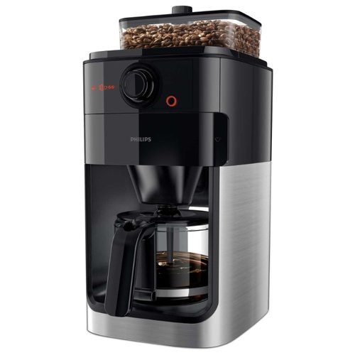 Кофеварка Philips HD7767 Grind & Brew черный/металлик coffee maker philips grind