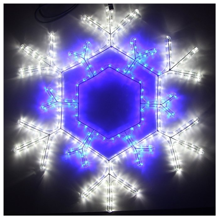 Фигура Sh Lights Снежинка RL-234-SF-B/W