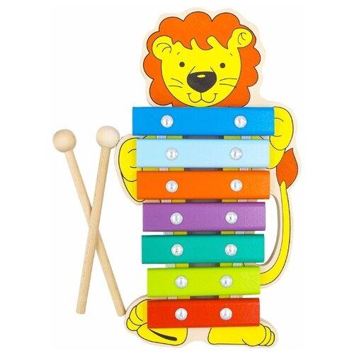 Купить Alatoys ксилофон Львенок КС0704 разноцветный, Детские музыкальные инструменты