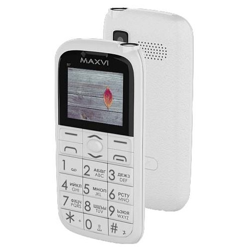 Купить Телефон MAXVI B7 белый