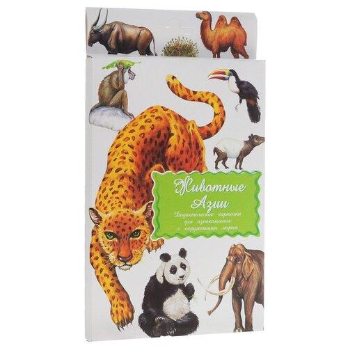 Набор карточек Маленький гений Животные Азии 21x15 см 16 шт.Дидактические карточки<br>