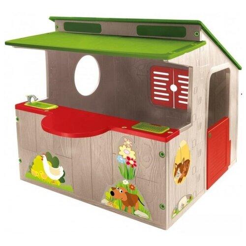 Купить Домик Mochtoys Ферма 11392 серый/красный/зеленый, Игровые домики и палатки