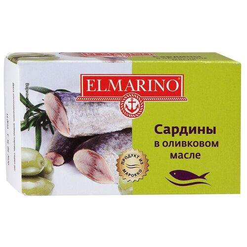 ELMARINO Сардины в оливковом масле, 125 гКонсервы из рыбы и морепродуктов<br>