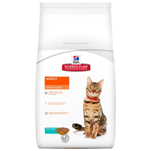 Корм для кошек Hill's (2 кг) Science Plan Feline Adult Optimal Care with Tuna