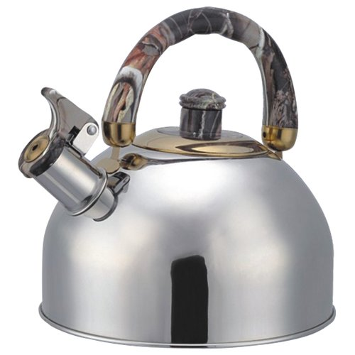 Bohmann Чайник со свистком 4,5 л серебристый/мраморный серый