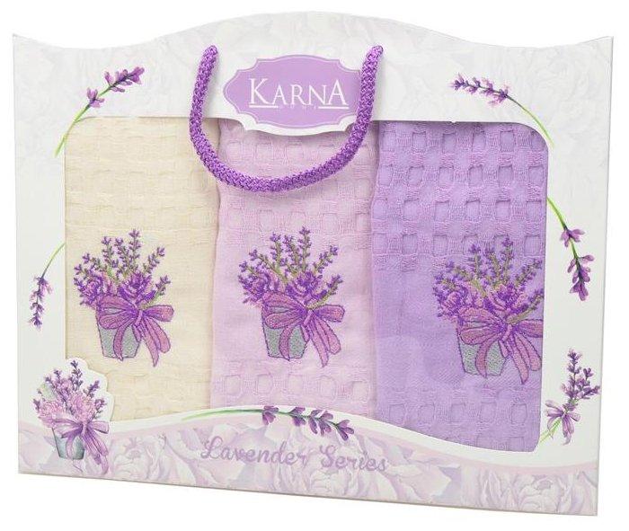 KARNA набор полотенец Lavender кухонное