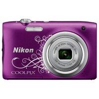 Компактный фотоаппарат Nikon Coolpix A100 фиолетовый с рисунком