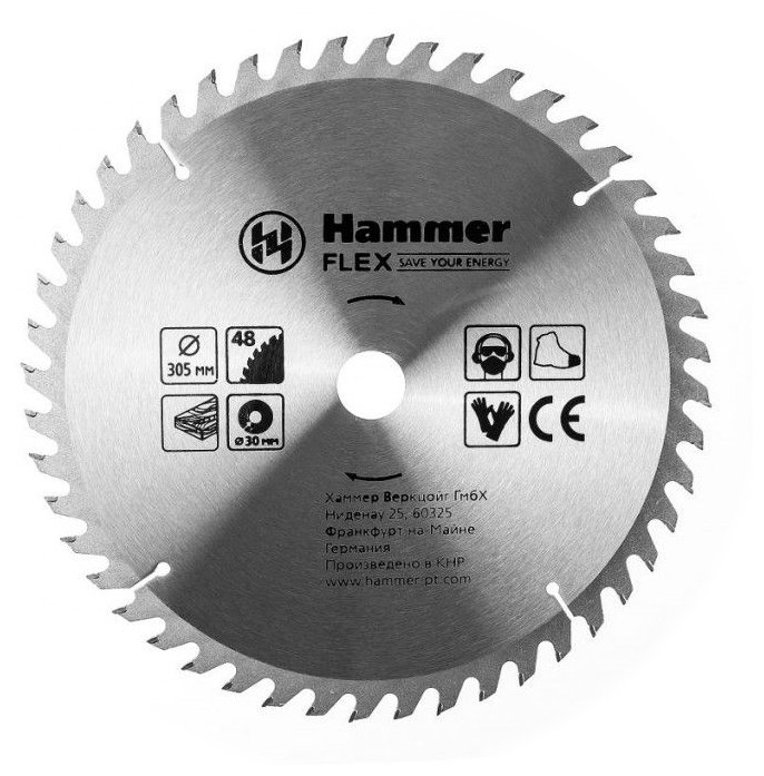 Пильный диск Hammer Flex 205-132 CSB WD 305х30 мм