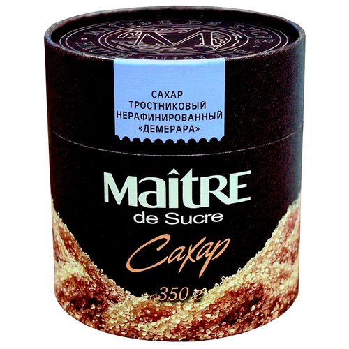 Сахар Maitre Демерара тростниковый коричневый, картонная упаковка 0.35 кг
