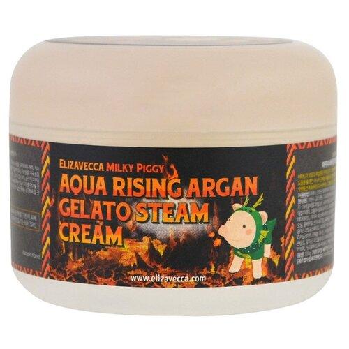 Elizavecca Milky Piggy Aqua Rising Argan Gelato Steam Cream Крем для лица, 100 г увлажняющая маска для сияния кожи elizavecca milky piggy water coating aqua brightening mask