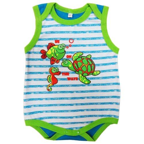 Купить Боди Sonia Kids размер 68, голубой/зеленый