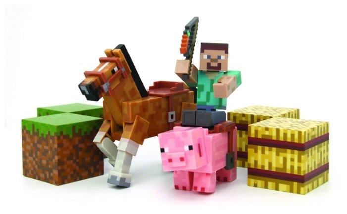 Игровой набор Jazwares Minecraft Стив на лошади с аксессуарами 16586