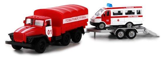 Пожарный автомобиль ТЕХНОПАРК Урал с прицепом