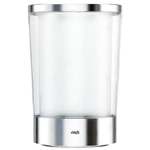 Ведерко для льда EMSA Flow Slim белый/стальной набор для салата emsa vienna цвет белый 7 предметов