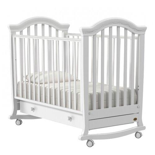 Кроватка Nuovita Perla (колесо) (качалка), на полозьях белый кроватка гандылян дашенька колесо качалка белый