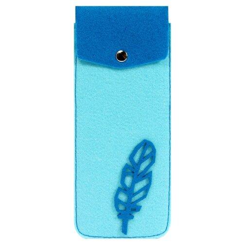 Купить Feltrica Пенал вертикальный 1 голубой/синий, Пеналы