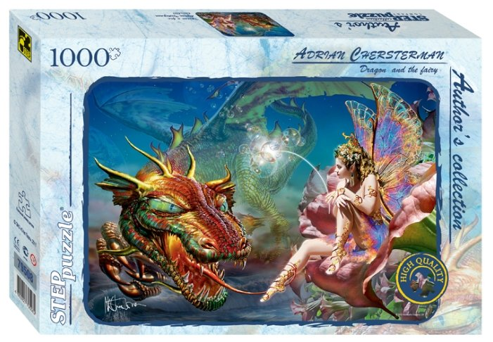 Пазл Step puzzle Авторская коллекция Дракон и фея (79508), 1000 дет.