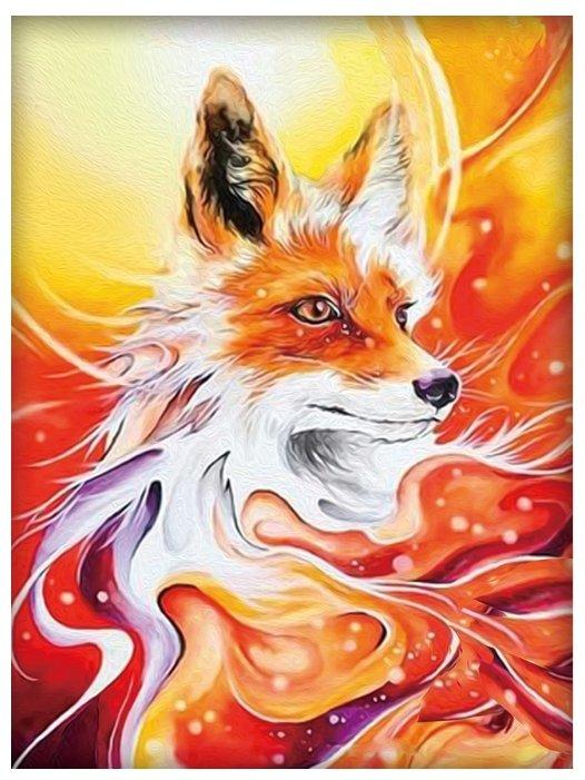 Алмазная живопись Набор алмазной вышивки Огненная лисица (АЖ-1555) 30х40 см