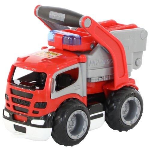 Пожарный автомобиль Wader ГрипТрак пожарный (37442) в коробке 28 см мусоровоз wader гриптрак 37459 28 5 см