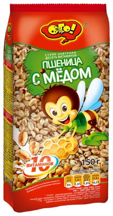 Завтрак Ого! сухой Пшеница с мёдом, 250г