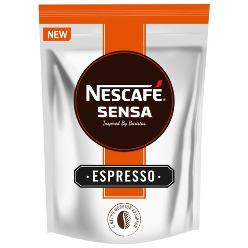 Кофе растворимый Nescafe Sensa Espresso с молотым кофе, пакет, 70 г кофе растворимый egoiste noir пакет 70 г