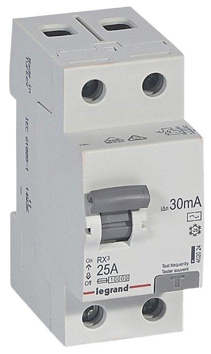 УЗО Legrand 30мА тип AC RX3 402024 2 полюса