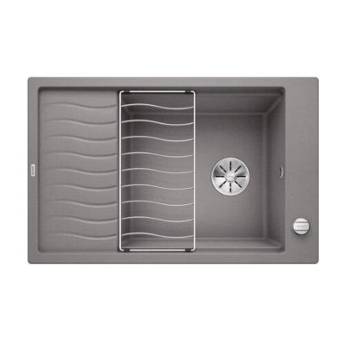 Врезная кухонная мойка 78 см Blanco Elon XL 6S с клапаном-автоматом 524836 алюметаллик